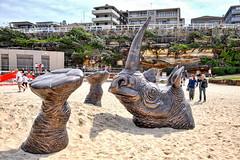 65+055: Rhino (geemuses) Tags: sculpturebythesea2016 sculpture art streetphotography candidphotography rhinocerous bondi tamarama surf sea coastalwalk bondiicebergspool bondibeach water ocean sand beach thong landscape scenery scenic