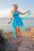 Sunset in Vouliagmeni, Attica (DZ-fotografia (7.6 Million views, Thx!)) Tags: sunset vouliagmeni attica greece lady blonde sexy dress heels legs long hair sea mediterranean turquoise
