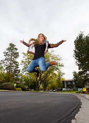 Waiting to land (Flickr_Rick) Tags: outside autumn breanne jump jumping jumpology woman athletic strong