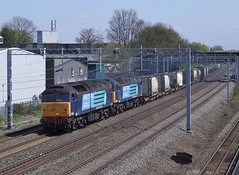 57003 & 57009 at Headstone Lane, 21/4/10