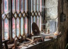 Gilfach Ddu workshops 09 HD oct 16 (Shaun the grime lover) Tags: gilfachddu dinorwic dinorwig slate quarry workshops welsh museum hdr industrial musem rusty window dust cobwebs spiders webs