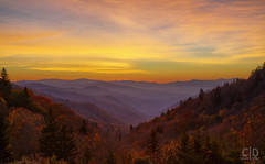 Oconaluftee Valley Dawn (Fraggle Red) Tags: northcarolina greatsmokymountainsnationalpark greatsmokymountains smokymountains smokies nationalpark oconalufteevalley oconalufteeriver oconalufteevalleyoverlook overlook us441 mountains hills trees fall autumn clouds dawn sunrise morning hdr 7exp dphdr adobephotoshopcc20155 adobelightroomcc canoneos5dmarkiii 5diii 5d3 canonef24105mmf4lisusm