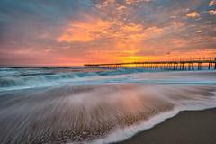 Sunrise Avalon (APGougePhotography) Tags: sunrise color colorefexpro nik nikcollection water flow pier avalon outerbanks obx ocean nikon d800 nikond800 topaz topazdetail detail denoise topazlabs topazdenoise adobe adobelightroom beach sand longexposure le