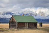 Grand Tetons Homestead (Palmetto AVP) Tags: grand tetons homestead mountains outhouse log cabin overcast