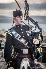 Piper on the Battlements of Edinburgh Castle (FotoFling Scotland) Tags: castle tattoo scotland edinburgh kilt edinburghcastle event esplanade piper bagpipe royaledinburghmilitarytattoo