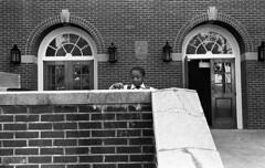 Child at Wedding 1983 (slightlysoggysoul) Tags: street wedding people blackandwhite church monochrome candid skancheli