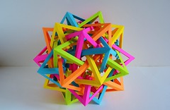 Five Interlocking Deconstructed Octahedra (Byriah Loper) (Byriah Loper) Tags: abstract geometric paper compound origami complex polygon paperfolding polyhedron octahedron copypaper byriahloper