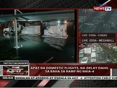 QRT: Apat na domestic flight, na-delay dahil sa baha sa ramp ng NAIA-4 (thenewsvideos) Tags: ramp flight domestic baha qrt apat dahil nadelay naia4