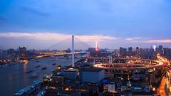 | Nanpu Night (Owen Wong (Thank you)) Tags: city bridge sky skyline landscape lights shanghai     huangpu   nanpu