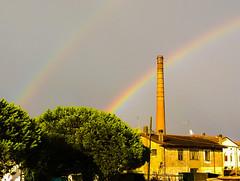 Adria insolita (alex.gb) Tags: rain rainbow unusual pioggia arcobaleno adria citt insolito