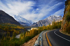 Queen of the Mountains (NotMicroButSoft (Fallen in Love with Ghizar, GB)) Tags: autumn nature karakoram kkh rakaposhi hunza nagar concordians gilgitbaltistan queenofmountain