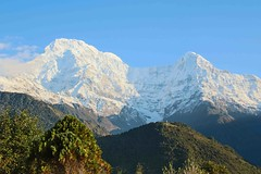 Annapurna South and Hiunchuli (Mabacam) Tags: nepal mountain snow rock annapurna himalayas mountainrange 2015 annapurnasouth hiunchuli annapurnahimal