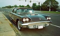 1959 Ford Thunderbird; Bellmore, New York (hogophotoNY) Tags: auto road morning usa classic ford film car analog vintage us olympusstylusepic olympus longislandny longisland stylus thunderbird epic 1959 dlx fordthunderbird olympusstylusepicdlx cultclassic 1959fordthunderbird hogophoto getolympus olympususa