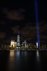9-11 Tribute In Light 10 (Amaury Laporte) Tags: newyorkcity usa newyork unitedstates 911 landmarks northamerica tributeinlight memorials september11memorial