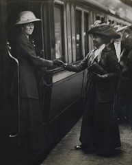 Barbara Wylie and Emmeline Pankhurst, 1912.