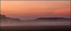 Lines of communication (virgil martin) Tags: panorama ontario canada fog landscape fields waterlooregion oloneo olympusomdem5 microsofticegimp