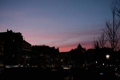 Sunset (FCarboni) Tags: city sunset tree netherlands amsterdam silhouette 35mm lights photo fuji sundown nederland cities chrome fujifilm normal fujinon olanda shodows approvato