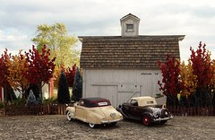 1935 Chevrolet Standard Sports Roadster & 1941 Chevrolet Special DeLuxe Convertible Coupe (JCarnutz) Tags: chevrolet 1941 1935 diecast 124scale danburymint