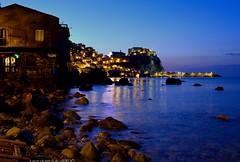 Scilla Rc (Arcieri Saverio) Tags: scilla reggio stretto calabria mare night nikon chianalea orablu blue 1855mm italy reggiocalabria
