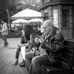Maybe I'll see better with these... let's try them... (Srgio Miranda) Tags: street blackandwhite bw 6x6 portugal monochrome mediumformat photography streetphotography porto delta100 ilford analogphotography oporto 120mm kiev88 filmphotography ilforddelta100 kiev88cm bwstreet filmisnotdead squarephotography bwfilmphotography sergiomiranda
