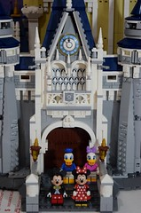LEGO Disney Castle Set - Disneyland Purchase - Fully Assembled - Closeup Front View of Entrance (drj1828) Tags: us disneyland 2016 lego disney castle purchase 71040 assembled completed