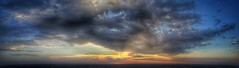 A Sunday sunset from 400 feet up over Clive, Iowa. (Danny Engesser) Tags: aerialphotography aerials panorama 2016 drones uavs quadcopters dji phantom3 clive iowa cliveiowa westdesmoines westdesmoinesiowa