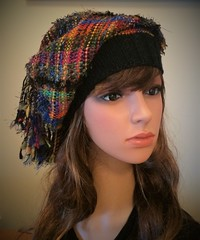 Riot of Colour and Texture HAT (wovenflame) Tags: riotofcolourandtexture hat woven knittedbrim fringe multicoloured saori