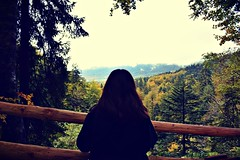 I know places we can go babe (anvelvet) Tags: lykke li i know places bohinj forest trees girl brownhair view flickrtravelaward national park autumnleaves