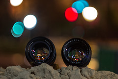 Almost Brothers... (Lens a Lot) Tags: paris | 2016 carl zeiss jena prakticar mc 50mm 14 1985 6 blades iris pb mount planar t aej mid 70s cy lenspicture made with biotar 58mm f2 1962 10 blade m42 bokeh close up vintage manual german west east ddr fast fixed length prime lens