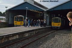 2816+2815 and 2802+2801 at Limerick, 22/10/16 (hurricanemk1c) Tags: limerick railways railway train trains irish rail irishrail iarnrd ireann iarnrdireann 2016 class2800 commuter tokyucarcorp 2816 2802