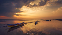 Golden light (abhishek.deopurkar) Tags: sky sea sunset water boat beach blue clouds coast ocean waves summer boats evening golden light peaceful seascape tide rays ray colorful dusk flowing pastel delight indianocean landscape