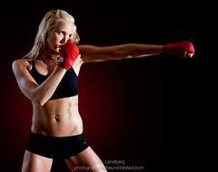 Hit Like a Girl (landbergmary) Tags: marylandberg conceptualphotography conceptualportrait portrait brave courageous puttingitoutthere uninhibited fearless hitlikeagirl boxing sweaty