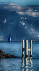Finalement, j'aime le bleu ! (Tra Te E Me (TTEM)) Tags: lumixfz1000 photoshop cameraraw suisse lac lman lausanne bleu blue voilier bateau boat montagnes moutains nuages clouds ciel sky eau water paysage landscape