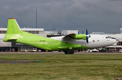 Cavok Air - Antonov AN-12 UR-KDM @ Cardiff Rhoose (Shaun Grist) Tags: urkdm cavokair an12 antonov shaungrist cwl egff cardiff cardiffairport cardiffrhoose rhoose wales russian airport aircraft aviation aeroplanes airline avgeek