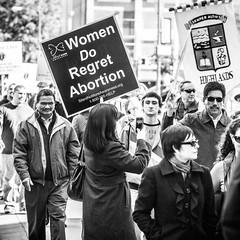 Roe v Wade (Thomas Hawk) Tags: america dallas prolifeparade texas usa unitedstates unitedstatesofamerica abortion bw demonstration politics prolife prolifeprotest protest