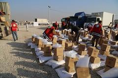 عمليات الاغاثة وتقديم المساعدات الى العوائل النازحة من مختلف قرى ومناطق محافظة #نينوى (1) (جمعية الهلال الاحمر العراق) Tags: نينوى مساعداتانسانية مساعدات موصل