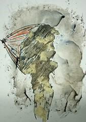 Collage Regenwetter (Alemwa) Tags: alemwa berlin kreuzberg zeichnung zeichnen sketching lifedrawing zeichnennachmodell berklebung collage kohlezeichnung kreide pastell person herbst schmuddelweter regenwetter schirm sturm herbststurm
