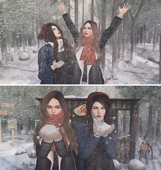 Sari-Sari - Bestfriend Poses (bento) for Tannenbaum (Abby-Anne) Tags: sarisari sl secondlife pose friend snow winter seasonal props tannenbaum bento