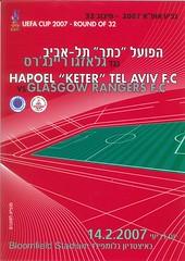Hapoel Tel Aviv v Rangers 20070214 (tcbuzz) Tags: hapoel tel aviv football club israel uefa cup programme