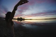 Feelin' (Rubn T.F.) Tags: girl woman portrait mood nature sunset summer sky skyscape landscape fisheye