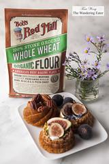 Whole Wheat, Pistachio cakes (thewanderingeater) Tags: californiafigs figs cake dessert bobsredmill