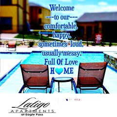 #welcome to our #comfortable #happy sometimes #loud usually messy #full of #love #home #latigoeaglepass #luxury #living #pool #beautiful #property #management # (latigoeaglepass) Tags: beautiful welcome full living comfortable home luxury pool property latigoeaglepass happy love management loud