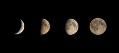 Rising Moon (Agnolo) Tags: d7100 nikon tamron 70300 moon luna lunacrescente risingmoon notturno astrofotografia four black night astrophotography