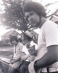I'm crazy! (dgrendus) Tags: paul doug chris quebecstreet vancouver 1970s