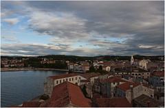 0258-POREC AL ATARDECER DESDE EL CAMPANARIO DE LA BASLICA EUFRSICA (Croacia) (-MARCO POLO--) Tags: atardeceres ciudades pueblos ocasos paisajes nubes