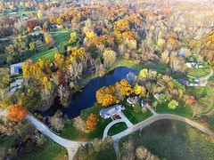 beautiful Colors from above (John Rothwell) Tags: n kent county michigan fall nature colors drone arial farm chauncy