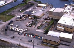 Superwood Corporation in Duluth, Minnesota 1989 I (Twin Ports Rail History) Tags: twin ports rail history by jeff lemke time machine duluth minnesota aerial photograph pulpwood industry superwood corporation hardboard 1989