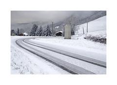 (Brulama) Tags: paysage route neige traces lecoteau lullin chablais hautesavoie france