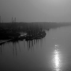Morning stillness (tom ballard2009) Tags: shoreham sussex river water adur mono blackwhite calm