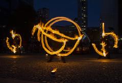 Fire Spinning (David Chennell - DavidC.Photography) Tags: riveroflight bonfirenight fire firespinning